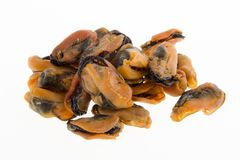 Chinese style sun dried oysters on background Royalty Free Stock Photo