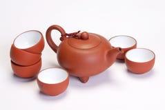 Chinese style tea set Royalty Free Stock Photo
