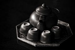 Chinese style tea set Stock Photos