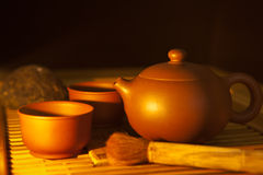 Chinese style teapot and teacup Royalty Free Stock Photo