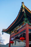 Chinese style temple buliding Stock Photos