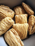 Chinese style uncooked noodles Stock Image