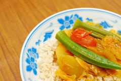 Chinese style vegetarian curry Royalty Free Stock Images
