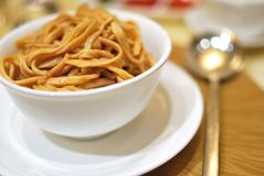 Chinese style vegetarian noodles Royalty Free Stock Photography