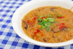 Chinese style vegetarian noodles Stock Photography