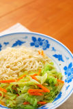 Chinese Style Vegetarian Noodles Royalty Free Stock Photos