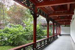 Chinese style walkway Stock Photos