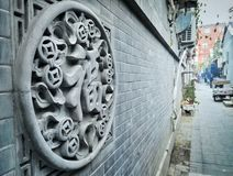 Chinese style wall Decoration Stock Image