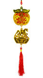 Chinese style wealthy charm on white background Royalty Free Stock Photography