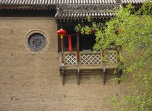 Chinese style window and balcony design Stock Photos