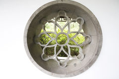 Chinese style window in garden Royalty Free Stock Images