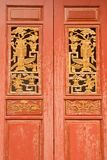 Chinese style wood door Stock Photography