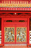 Chinese style wooden red door Stock Photography