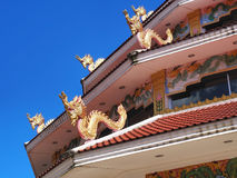 Chinese-styled pagoda under blue sky. Chinese-styled pagoda in Thailand temple under blue sky Royalty Free Stock Images