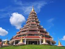Chinese-styled pagoda under blue sky. Chinese-styled pagoda in Thailand temple under blue sky Stock Image