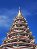 Chinese-styled pagoda under blue sky. Chinese-styled pagoda in Thailand temple under blue sky Royalty Free Stock Photos