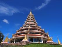 Chinese-styled pagoda under blue sky. Chinese-styled pagoda in Thailand temple under blue sky Royalty Free Stock Photo
