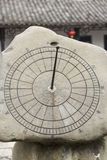 Chinese Sun Dial in Stone Stock Images