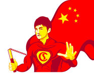 Chinese superman Stock Photo