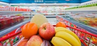 Chinese supermarkt stock afbeeldingen