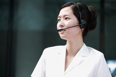 Chinese sustomer service agent Stock Photo