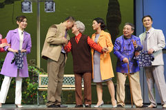 Chinese Suzhou Burlesque Drama actors Stock Images