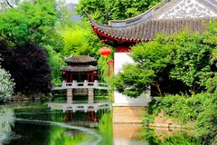 Chinese Suzhou classical gardens. Have their unique historical status and value in the history of world gardening. With the superb artistic techniques of royalty free stock photo