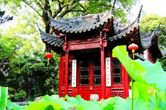 Chinese Suzhou classical gardens. Have their unique historical status and value in the history of world gardening. With the superb artistic techniques of stock image