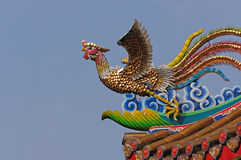 Chinese swan sculpture royalty free stock photo
