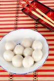 Chinese sweet dumplings. Chinese traditional sweet dumplings with chopsticks Stock Photo