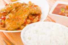 Chinese Sweet & Sour Chicken Stock Photos