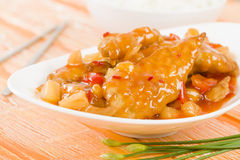 Chinese Sweet & Sour Chicken Stock Photography