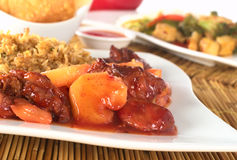 Chinese Sweet and Sour Meal Royalty Free Stock Photos