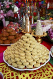 Chinese sweetmeat. Bangkok, Thailand - Sep 12, 2011 : Chinese sweetmeat for rite in Moon festival arrange like pyramid Stock Photo