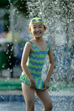 Chinese swimming children Royalty Free Stock Image