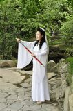 Chinese swordswoman Royalty Free Stock Images