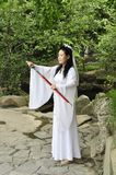 Chinese swordswoman Stock Photography
