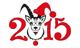 Chinese symbol vector goat 2015 year Stock Images