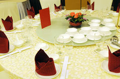 Chinese table setting Royalty Free Stock Photography