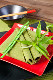 Chinese table setting Royalty Free Stock Image