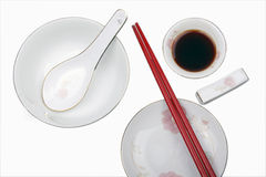 Chinese tableware. On white background Stock Photography