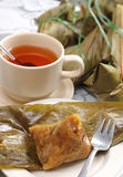 Chinese Taditional Bamboo Leaf Dumplings Stock Photo