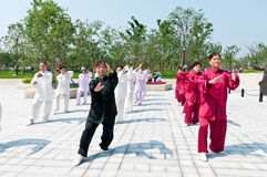 Chinese tai chi Royalty-vrije Stock Fotografie
