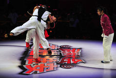 Chinese taiji kung fu game Royalty Free Stock Image