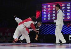 Chinese taiji kung fu game Royalty Free Stock Images