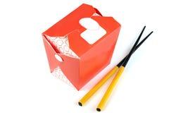 Chinese take away red food box Stock Photos