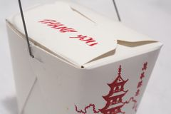 Chinese Take-Out. Isolated close-up picture of chinese take out Royalty Free Stock Images