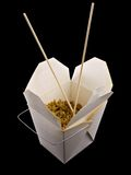 Chinese Take Out. Food isolated on a black background Stock Image