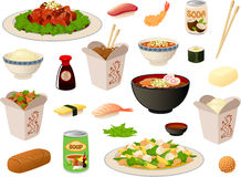 Chinese take out boxes stock illustration