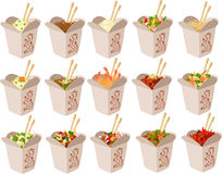 Chinese take out boxes Stock Image